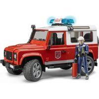 Bruder - Land Rover Defender - hasičské auto
