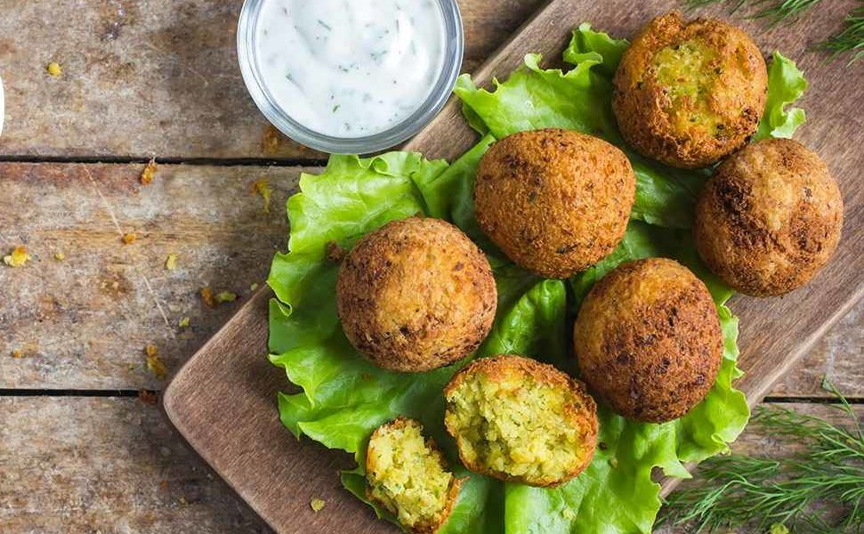 Falafel a indická rajta - recept
